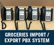 groceries import / export company voip pbx system