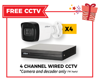 free 4 channel wired cctv